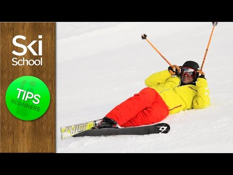 How To Ski Tips - Standing Up After A Crash (Beginners Lesson)