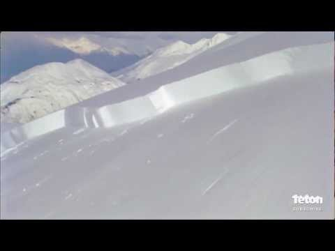 Skier Triggers Giant Avalanche