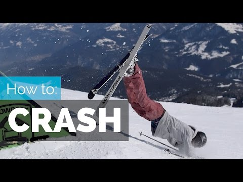 HOW TO CRASH ON SKIS | 4 FALLING TECHNIQUES