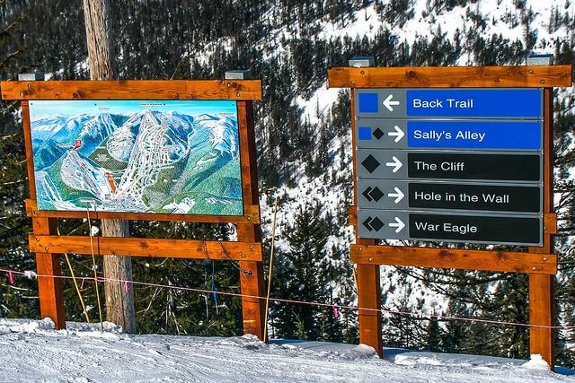 black blue ski trails