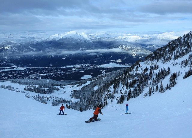 red ski trail