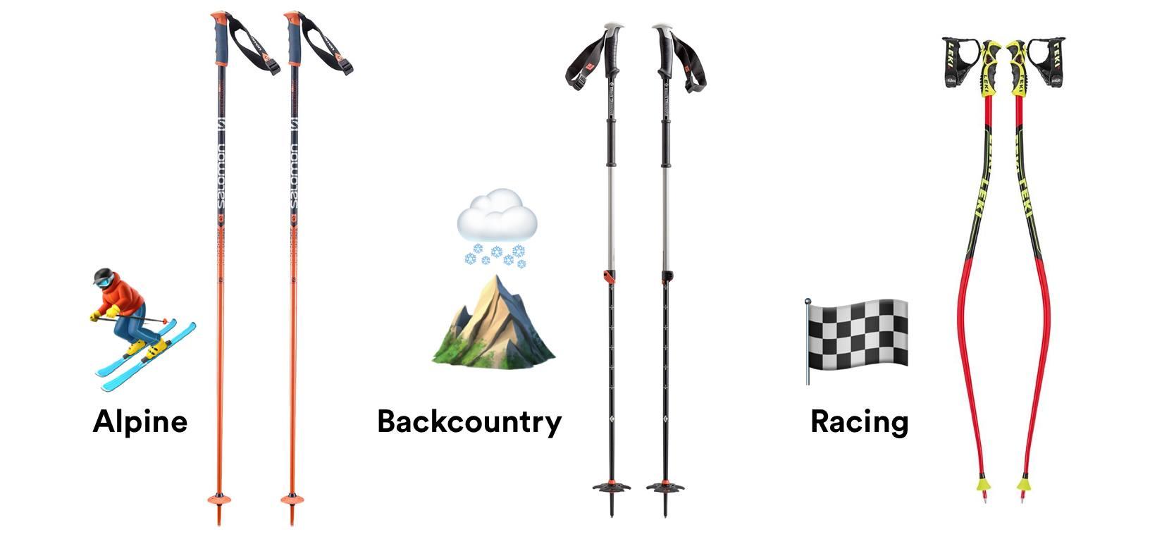 ski pole types