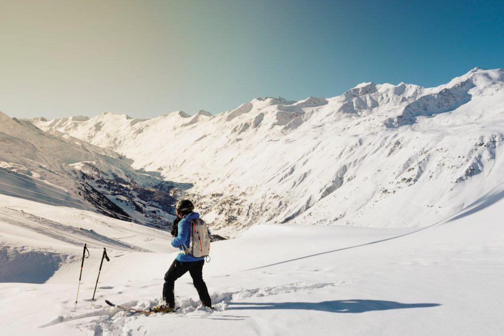 ski poles & mountain