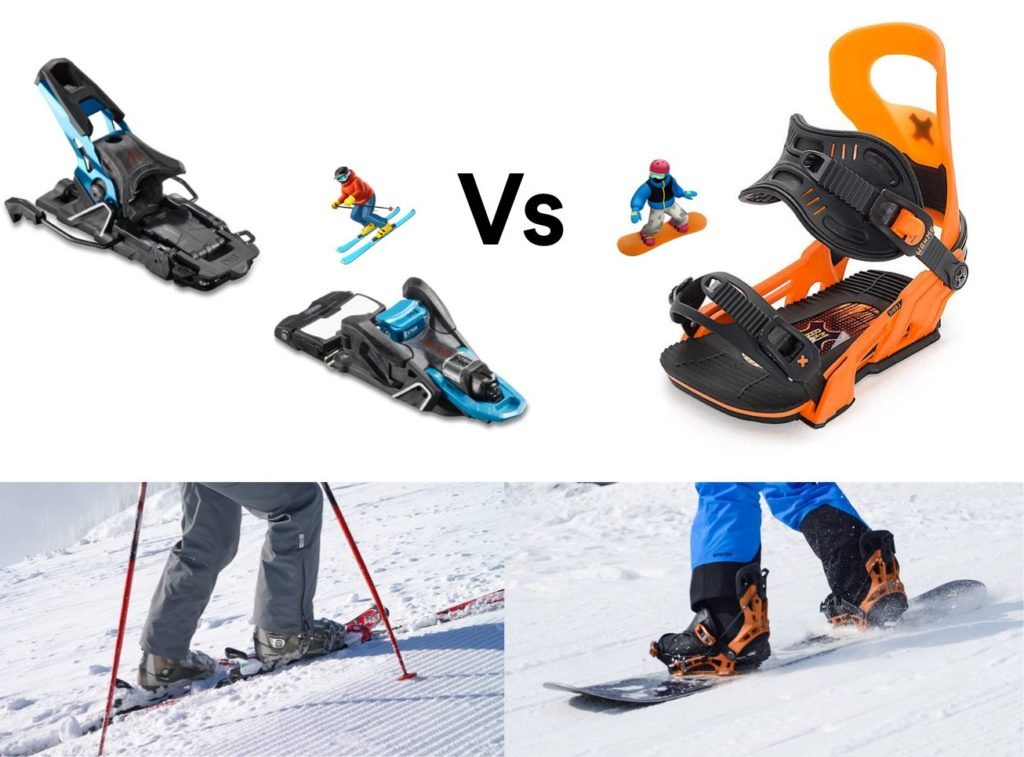 ski vs snowboard bindings