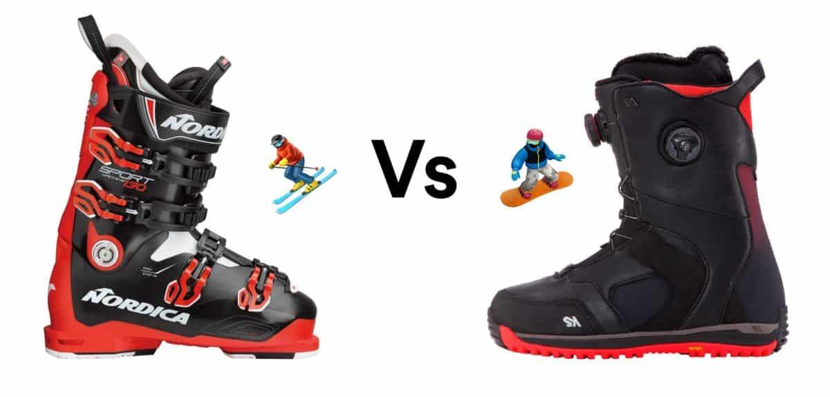 ski vs snowboard boots