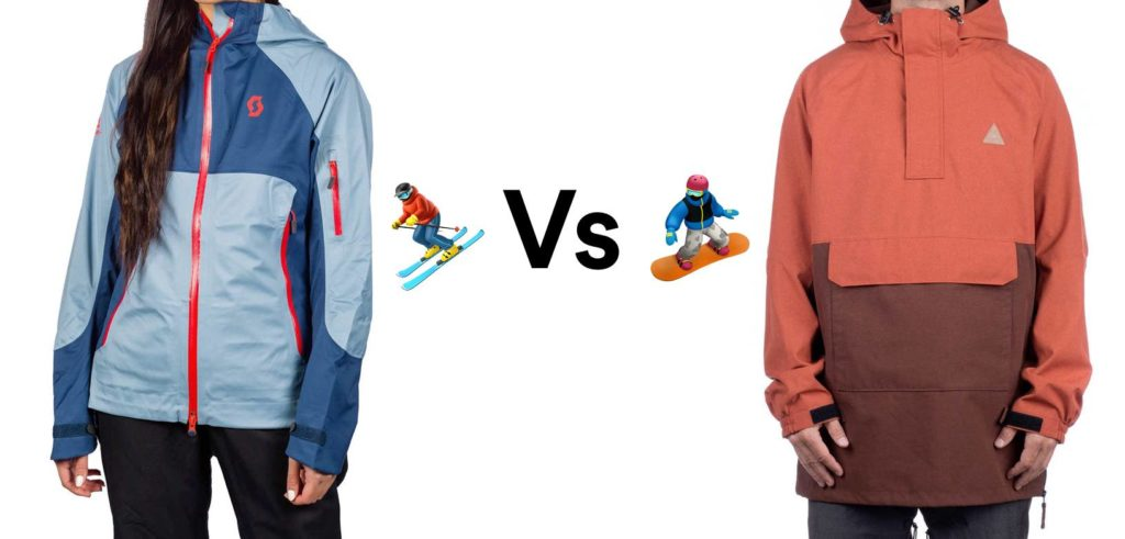 ski vs snowboard jackets