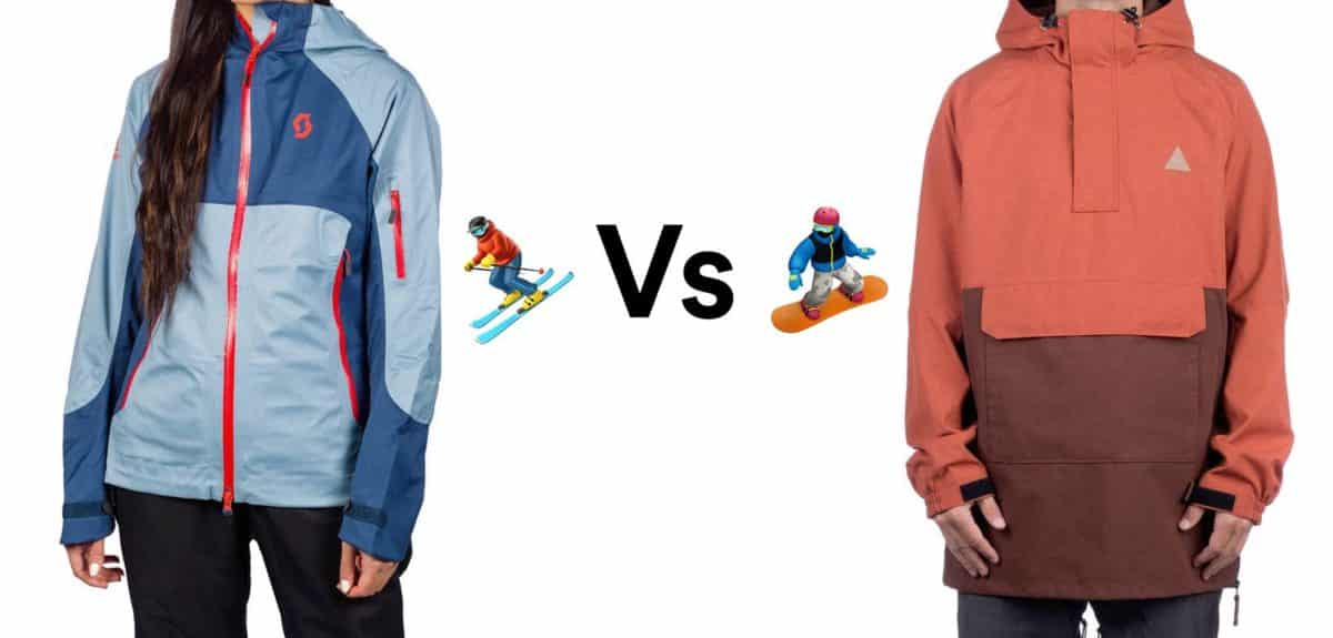 ski vs snowboard jackets