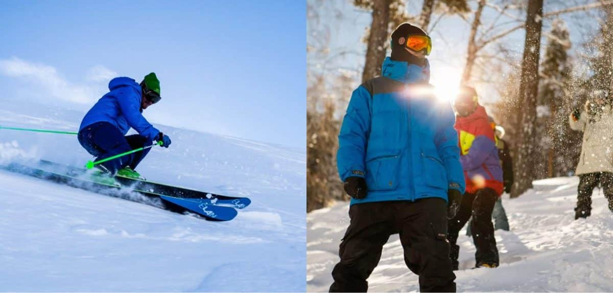 ski vs snowboard risks