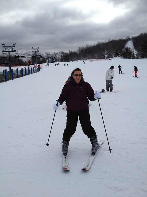 snowplough skiing