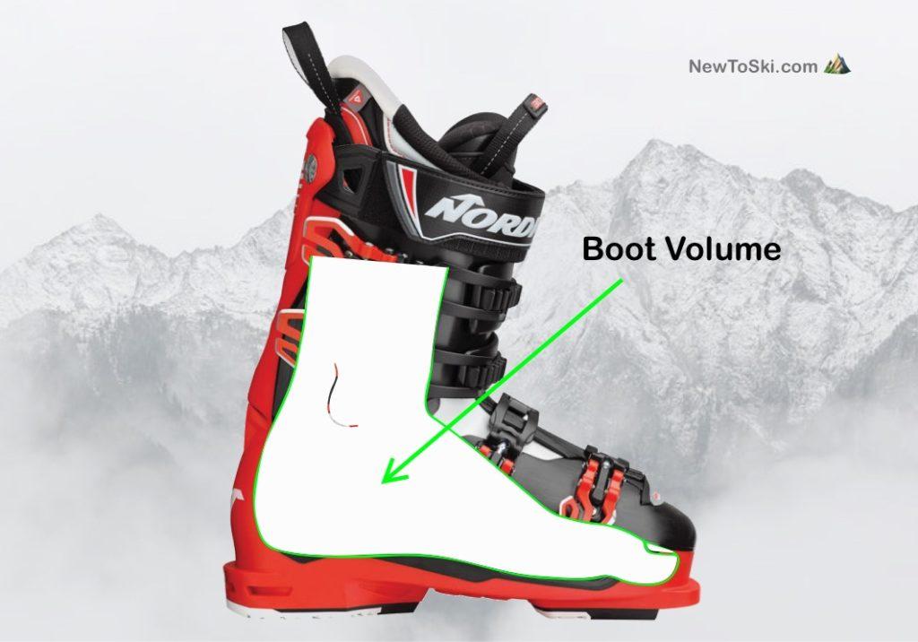 ski boot volume