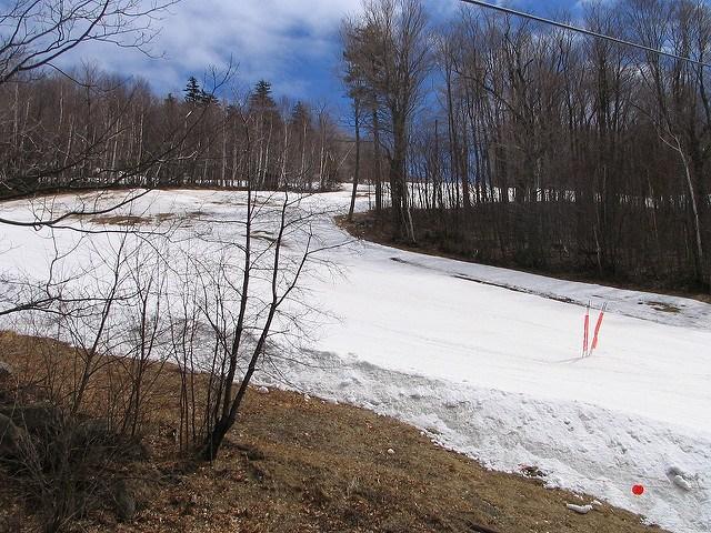 manmade snow piste