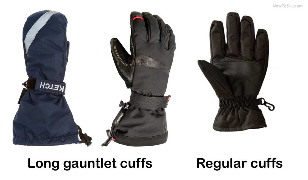 short vs long ski glove cuffs