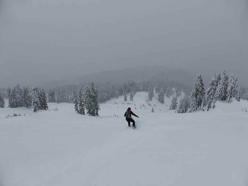 low visibility skiing