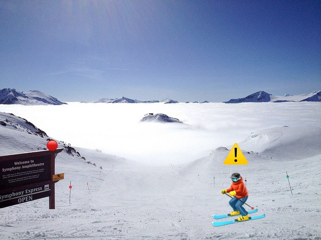 skiing red slope