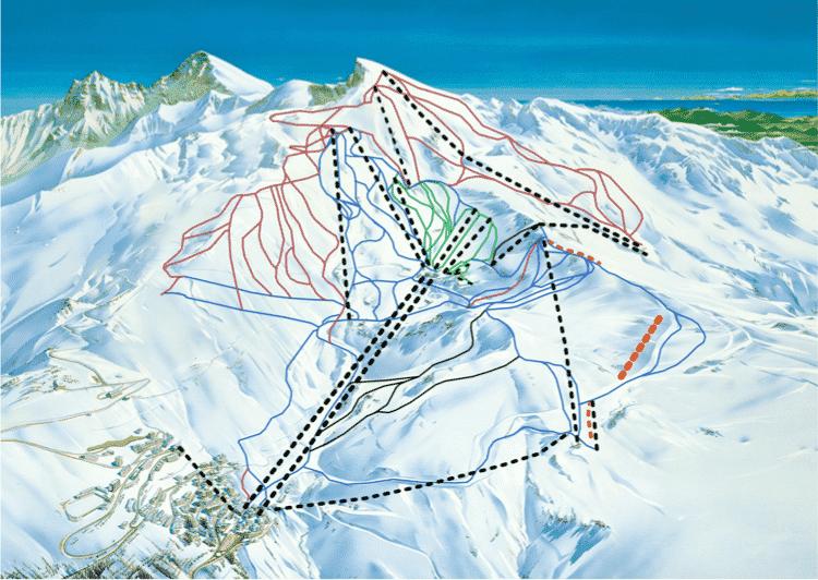 sierra nevada ski map