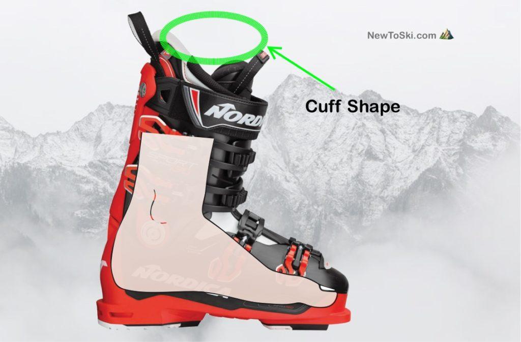 ski boot cuff shape