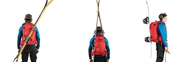 backpack ski carry setup