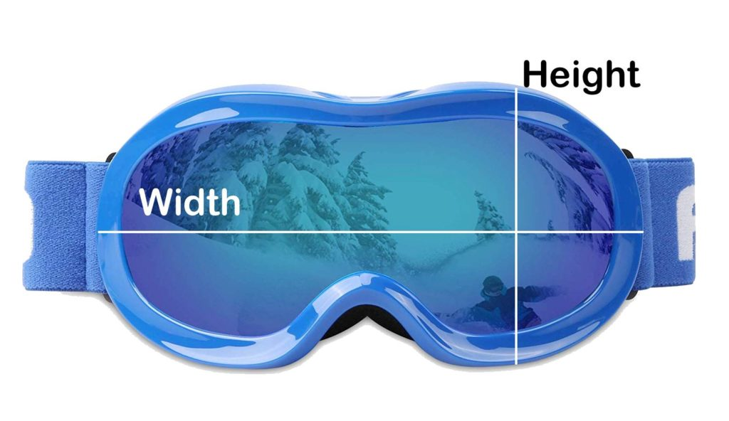ski goggle size