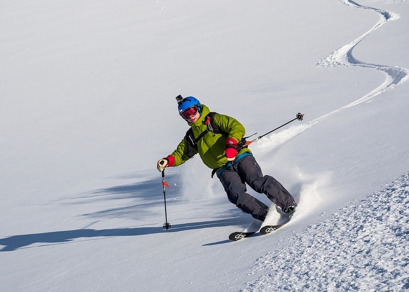 ski pole planting technique