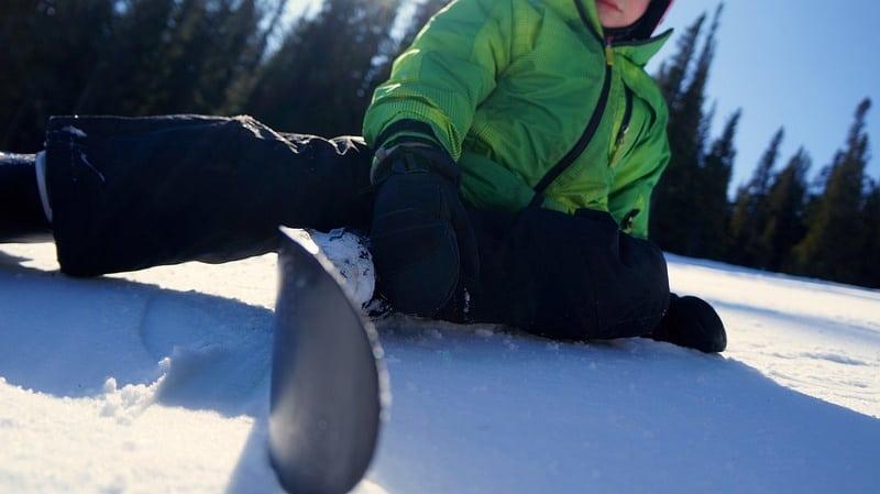 boy skiing snow