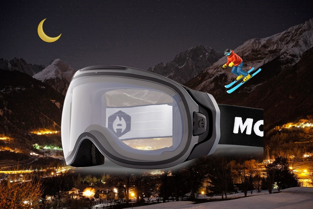 best night ski goggles