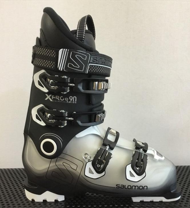 ski boots grey