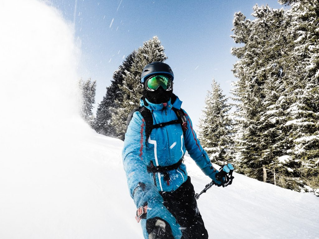 skier ski helmet