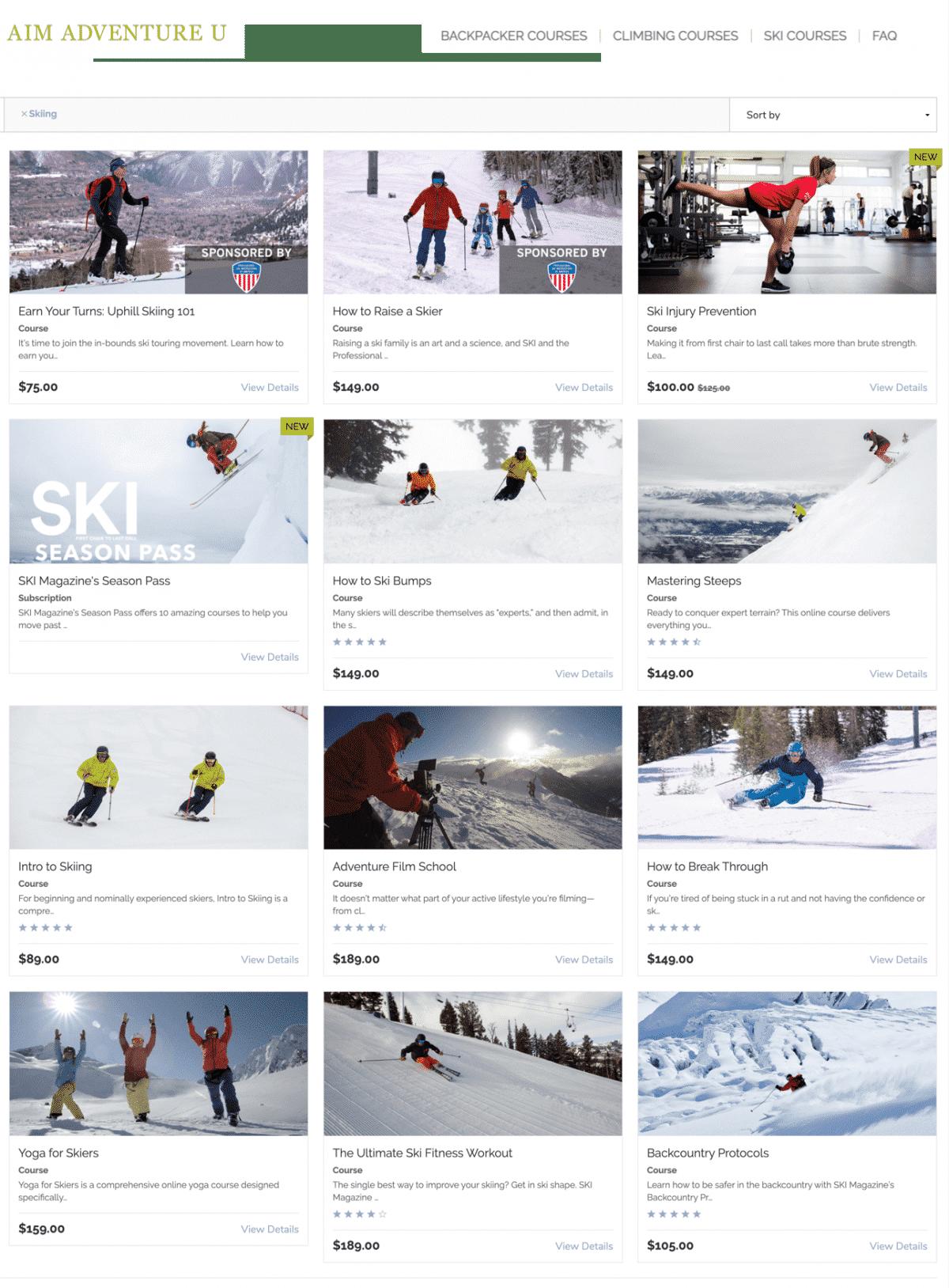 best online ski course