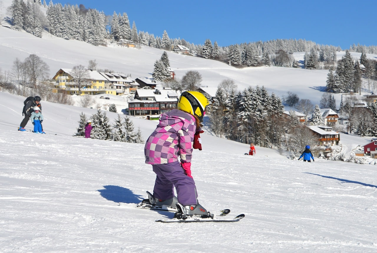children ski