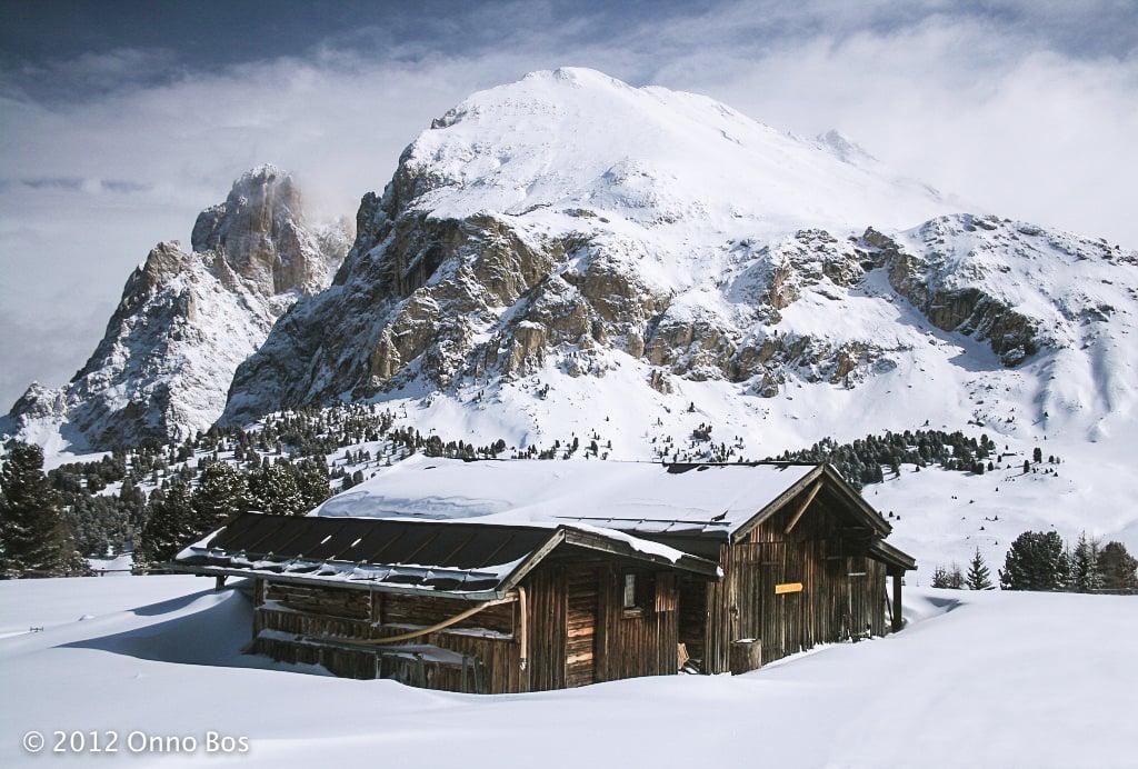 old ski cabin