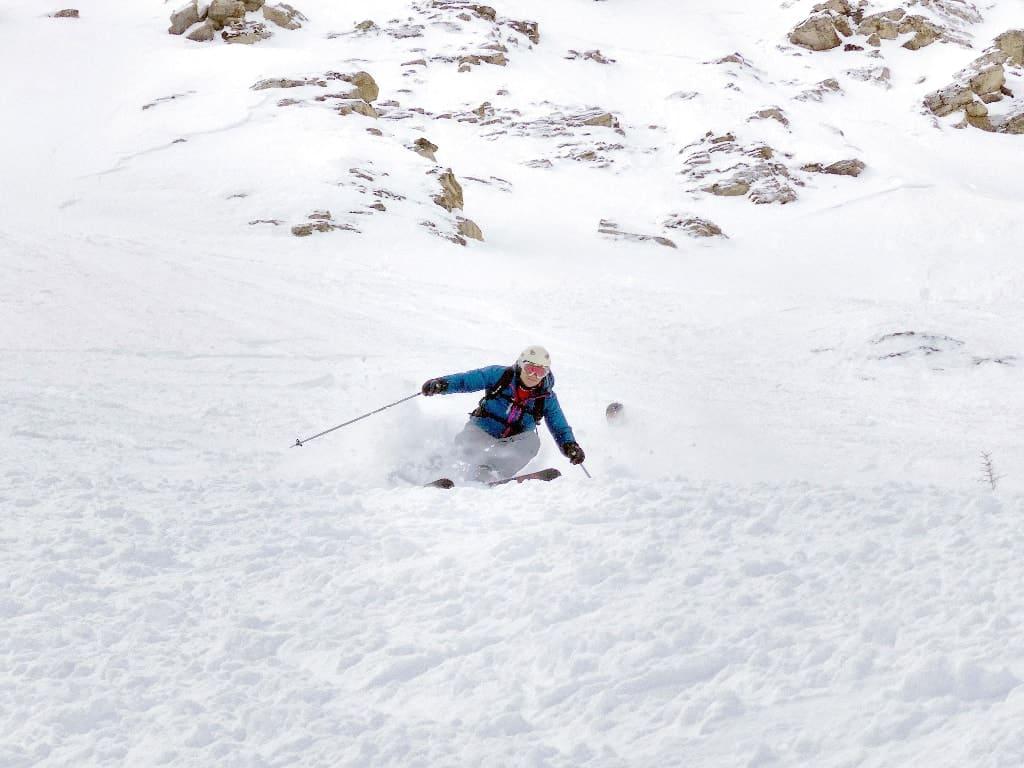 blue jacket ski