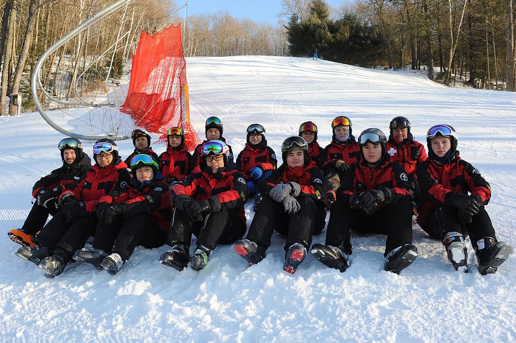 group of ski patrol