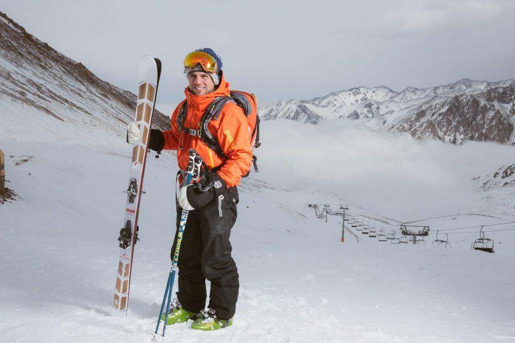 ski set on snow